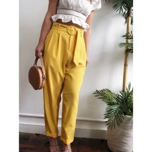 Pants - 🆕Bodhi Yellow High Waisted Tapered Cropped Pants